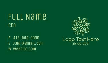 Intricate Celtic Decoration Business Card