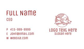 Plane Monoline Badge Business Card