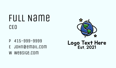 Planet Earth Egg Business Card