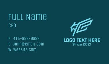 Cyber Geometric Bird Business Card