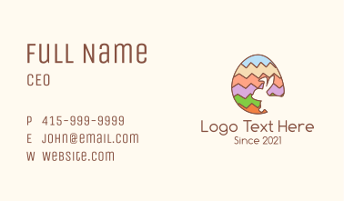 Colorful Easter Egg Business Card