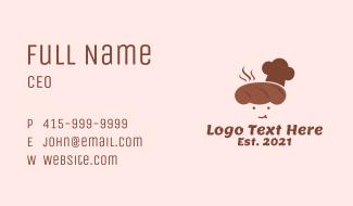 Bread Baker Mascot  Business Card