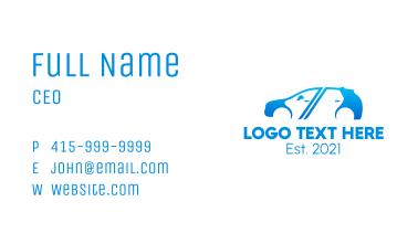 Blue Van Driver  Business Card