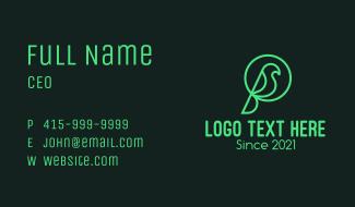 Green Natural Bird Business Card