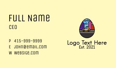 City Taxi Egg Business Card
