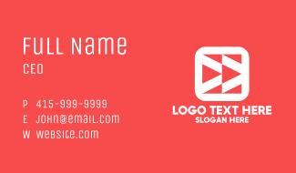 Youtuber Mobile App Business Card