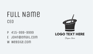 Road Magician Hat Business Card