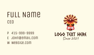 Fierce Tiki Mask Business Card
