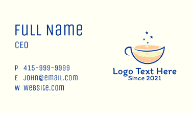 Galaxy Coffee Shop  Business Card