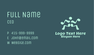 Musical Note Dancing Man Business Card