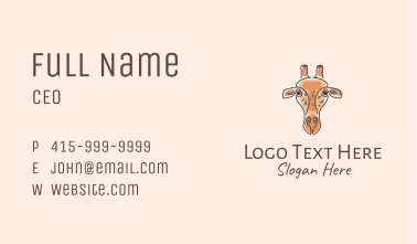 Giraffe Animal Business Card