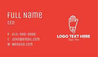 Hand Glove Price Tag Business Card