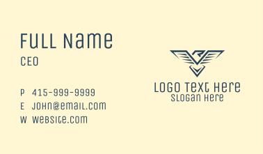 Blue Eagle Letter R  Business Card