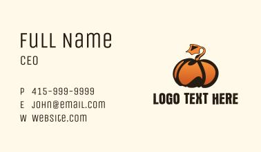 Pumpkin Farm  Business Card