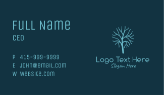 Winter Leafless Tree Business Card