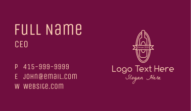 Wine Store Badge Business Card