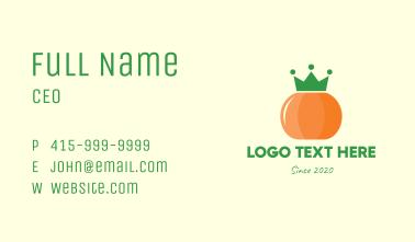 Royal Pumpkin Crown Business Card