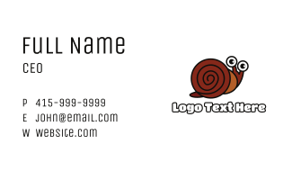 Brown Shell Snail Business Card