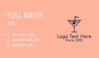 Music Bar Martini Business Card
