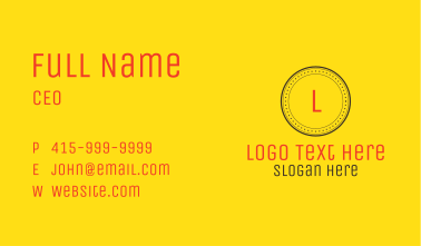 Minimalist Circle Letter Business Card