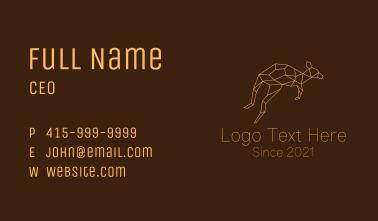 Minimalist Geometric Kangaroo Business Card