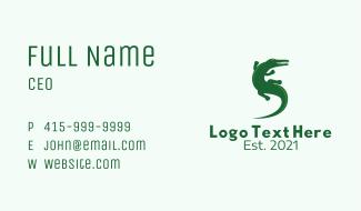 Green Alligator  Business Card