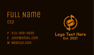 Music Note Coffee Business Card