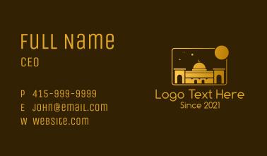 Golden Temple Mosque Business Card