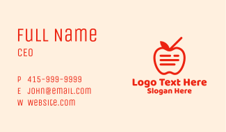 Red Apple Juice  Business Card