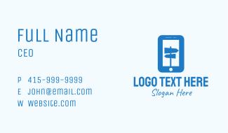Blue Mobile Locator Business Card