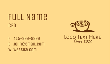 Snail Coffee Cup  Business Card