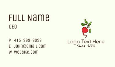 Fresh Radish Vegetable Business Card