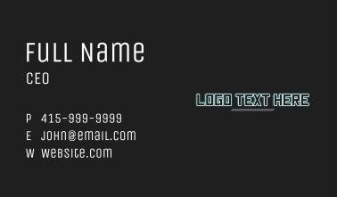 Cyberpunk Wordmark Business Card