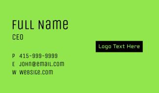 Technology Wordmark Business Card