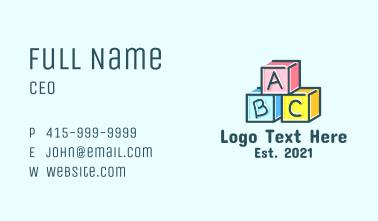 Baby Blocks Alphabet Business Card