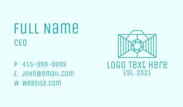 Geometric Rectangle  Camera Business Card