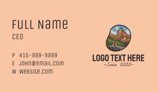 Trekking Adventure Campsite Business Card