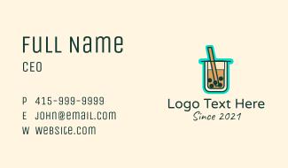 Boba Milk Tea Drink  Business Card