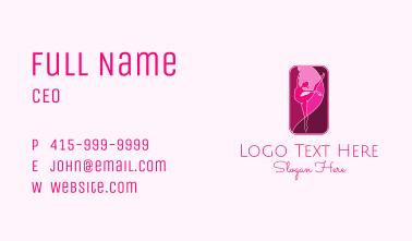 Pink Gymnastics Emblem  Business Card