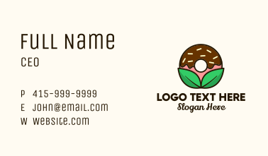 Natural Chocolate Donut Business Card