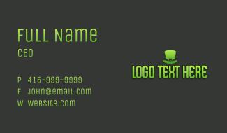 Leprechaun Hat Wordmark Business Card