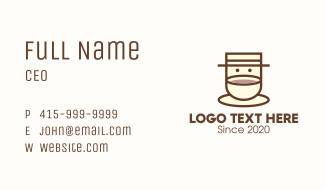 Coffee Cup Barista Business Card