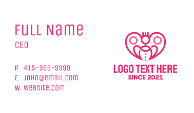 Family Planning Heart Business Card