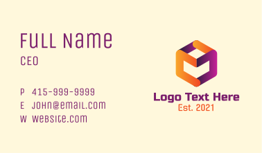 Gradient Cube Business Card