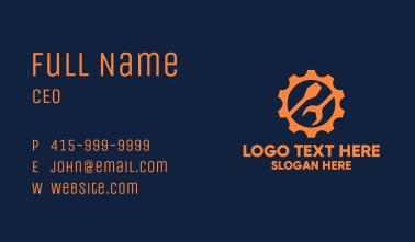 Mechanic Gear Tools Business Card