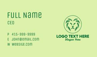 Green Leaf Lion Business Card
