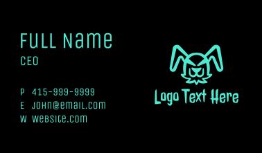 Fluorescent Evil Bunny Business Card