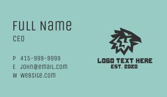 Tribal Eagle Head Business Card
