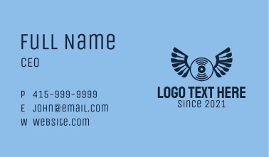 Blue Wing Record  Business Card