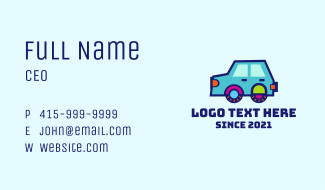 Colorful Toy Car Business Card